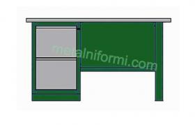 Метално бюро -А3