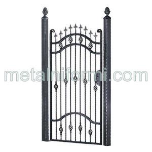 Врати дворни,Ковано желязо врати дворни.