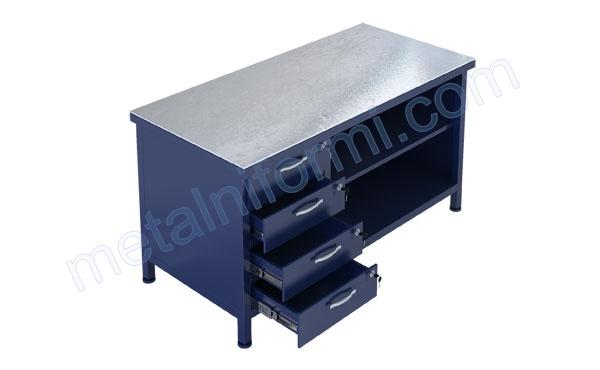 Работна маса от метал, модел 1500-10В.