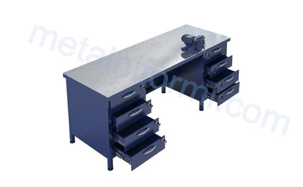Работна маса от метал, модел 2000-11В.