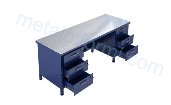 Работна маса от метал, модел 2000-8В.