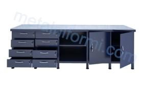 Метална шлосерска работна маса, модел 2500-5А.